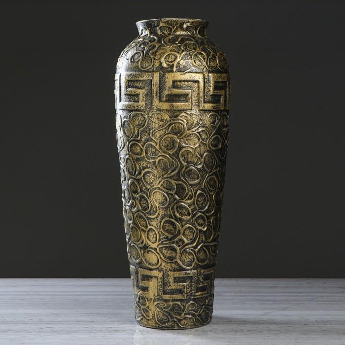 """Ваза напольная """"Арго """", золотистый цвет, акрил, 65 см, керамика"""