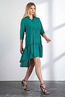 Женское осеннее зеленое платье Vladini DR1149 зеленый 48р.