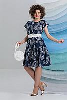 Женское летнее из вискозы синее большого размера платье Avanti Erika 1194 46р.