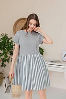 Женское летнее из вискозы серое платье Claire 2411 серый-хаки 44р.