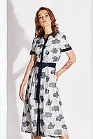 Женское летнее из вискозы серое большого размера платье Noche mio 1.112 48р.