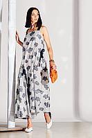 Женское летнее из вискозы серое платье Noche mio 1.158 1 44р.