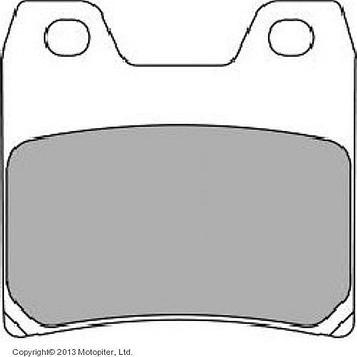 Колодки тормозные дисковые, FERODO FDB2150ST