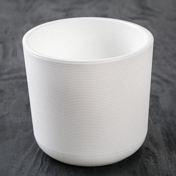 Кашпо со вставкой «Лион», 2 л, цвет белый