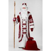 Карнавальный костюм 'Дед Мороз Купеческий', р. 54-56, цвет красный