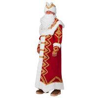 Карнавальный костюм 'Дед Мороз Великолепный', шуба, шапка, варежки, борода, мешок, р. 54-56