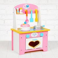 Игровой набор 'Кухня с сердечком', деревянная посуда в наборе