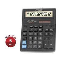 Калькулятор настольный 12-разрядный SDC-888TII, 205*159*27мм, двойное питание, черный