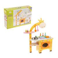 Игровой набор 'Кухня с жирафом', посудка в комплекте