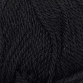 Пряжа 'Мериносовая' 50меринос.шерсть, 50 акрил 200м/100гр (02-Черный) - фото 1