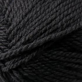 Пряжа 'Мериносовая' 50меринос.шерсть, 50 акрил 200м/100гр (02-Черный) - фото 6