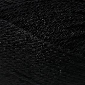 Пряжа 'Мериносовая' 50меринос.шерсть, 50 акрил 200м/100гр (02-Черный) - фото 9