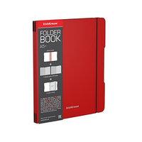 Тетрадь А5, 96 листов в клетку, съёмная пластиковая обложка, Erich Krause FolderBook, блок офсет, красная