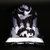 Мешок для обуви со светоотражающей лентой 'Велосипедист', 37 х 31 см