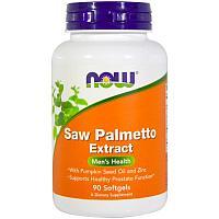 БАД Экстракт пальмы сереноа, 160 мг, Saw Palmetto, Now Foods для простаты (90 капсул)