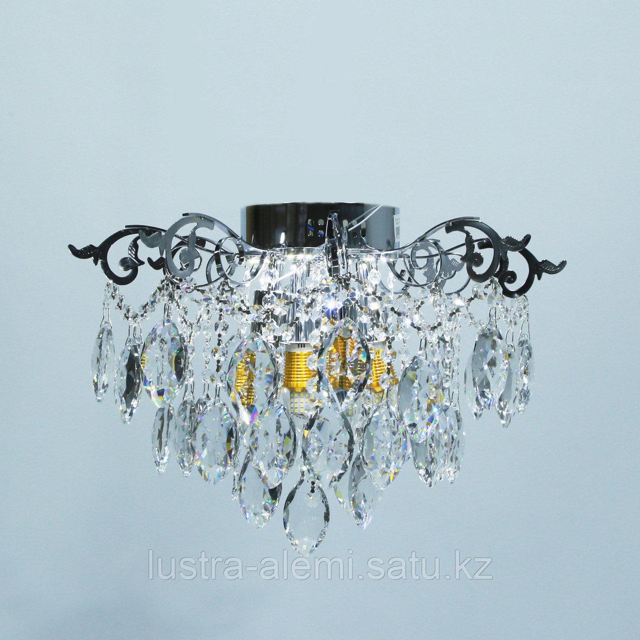 """Люстра Классика """"Хрусталь"""" 1832/4+4 E27*4-LED*4 CH"""