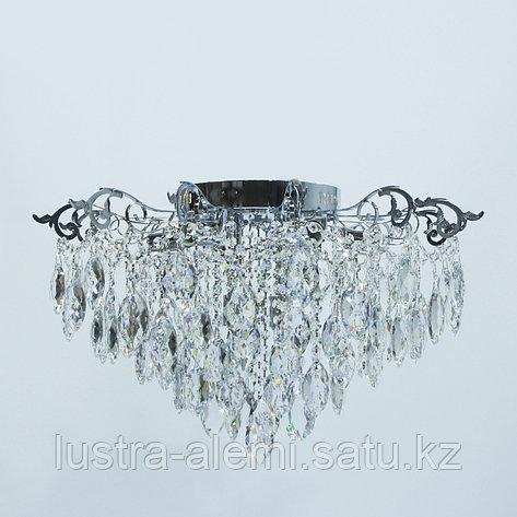 "Люстра Классика ""Хрусталь"" 1832/8+6 E27*8-LED*6 CH, фото 2"