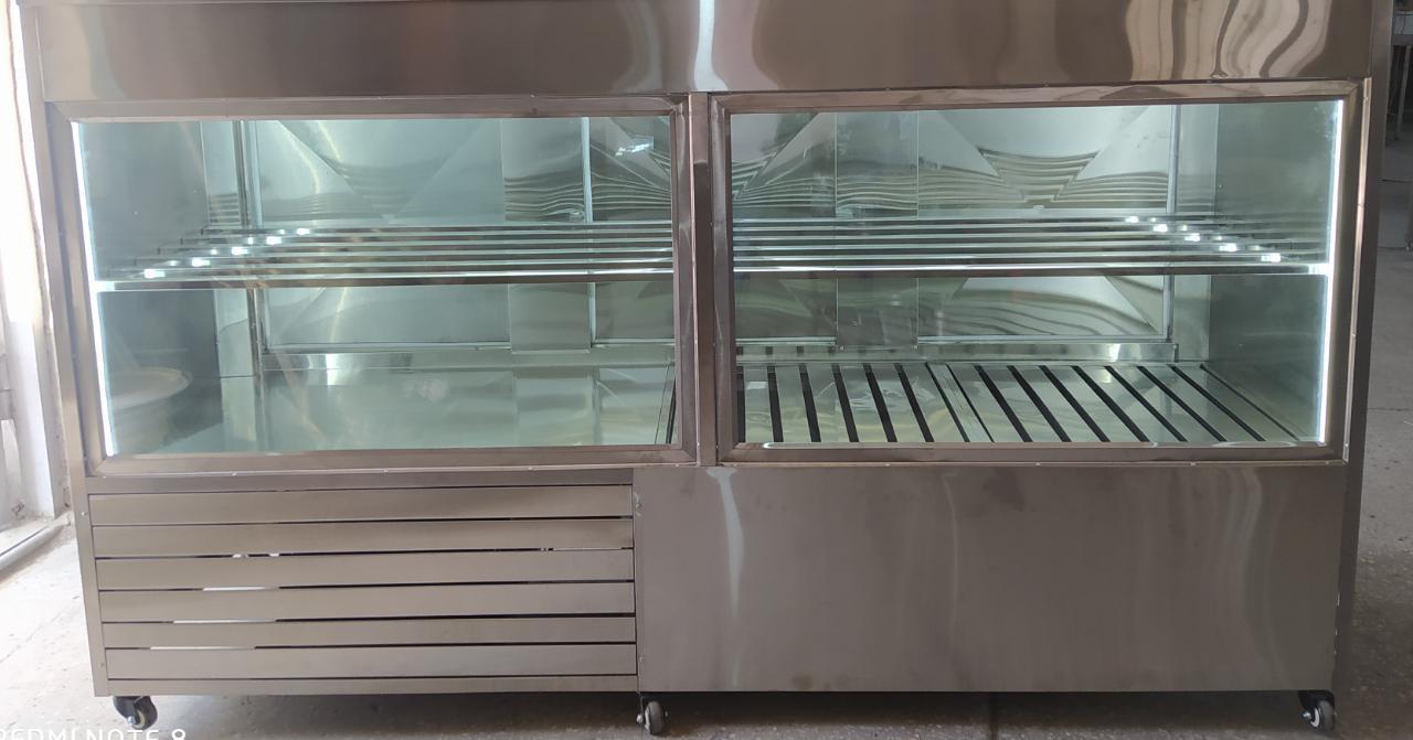 Витринный холодильник для шашлыка