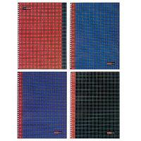 Тетрадь А4, 96 листов в клетку на гребне 'Шотландка', обложка мелованный картон, глянцевая ламинация, МИКС