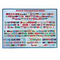 Плакат 'Флаги государств мира' А2 (комплект из 10 шт.)