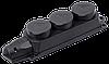 Розетка (колодка) 3-местная РБ33-1-0м с защитными крышками IP44 ОМЕГА IEK
