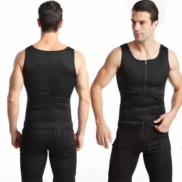 Мужской жилет для похудения с поясным корсетом