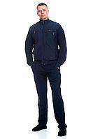 Мужской осенний трикотажный синий спортивный большого размера спортивный костюм FORMAT 7147/176 синий 50р.