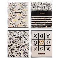 Тетрадь 80 листов в клетку 'Ты и я', обложка мелованный картон, тиснение фольгой, блок офсет, МИКС (комплект