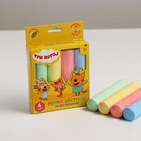 Мелки цветные для творчества 'Три кота' 4 цвета, асфальтовые