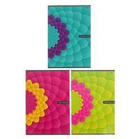 Тетрадь А4, 96 листов в клетку Flower Fantasy, картонная обложка, МИКС (комплект из 4 шт.)