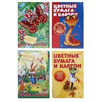 Набор для детского творчества А4, 8 листов картон цветной 8 листов бумага цветная односторонняя, 'Мультики',