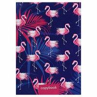Тетрадь А4, 48 листов в клетку Calligrata 'Фламинго 2', обложка мелованный картон, блок офсет (комплект из 3
