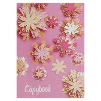 Тетрадь А4, 48 листов в клетку 'Цветы',обложка мелованный картон, блок офсет (комплект из 3 шт.)