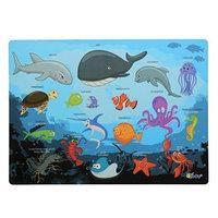 Накладка на стол, пластиковая, А4, 339 х 224 мм, 'Оникс', КН-4, 500 мкм, обучающая, 'Подводный Мир'