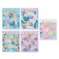 Тетрадь 48 листов в клетку 'Цветы. Tropical floral', обложка мелованный картон, тиснение фольгой, блок офсет,