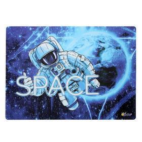 Накладка на стол, пластиковая, А4, 339 х 224 мм, КН-4, 500 мкм, 'В космосе'