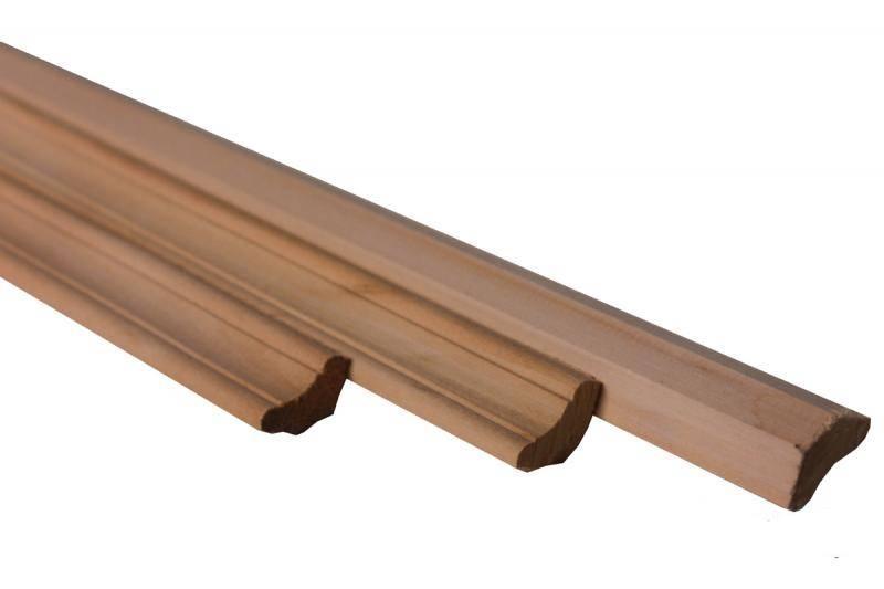 Плинтус потолочный липа 15*30*2300 А сорт (срощ)