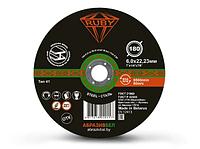 Отрезной круг шлифовальный по металлу 180х6,0х22,23 мм RUBY