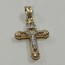 Подвеска Крест золото