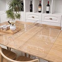 Гибкое стекло на стол Premium глянцевое 100х100 см