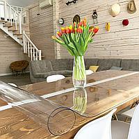Для кухонного стола защитные покрытие гибкое стекло 2 мм размер 100х60 см глянцевое