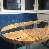 Гибкое стекло рифленое круглое 80 см