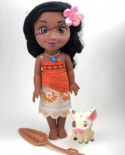 Кукла Моана с Пуа