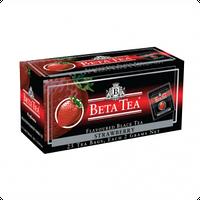 Чай Черный Beta Tea, Strawberry, Пакетированный