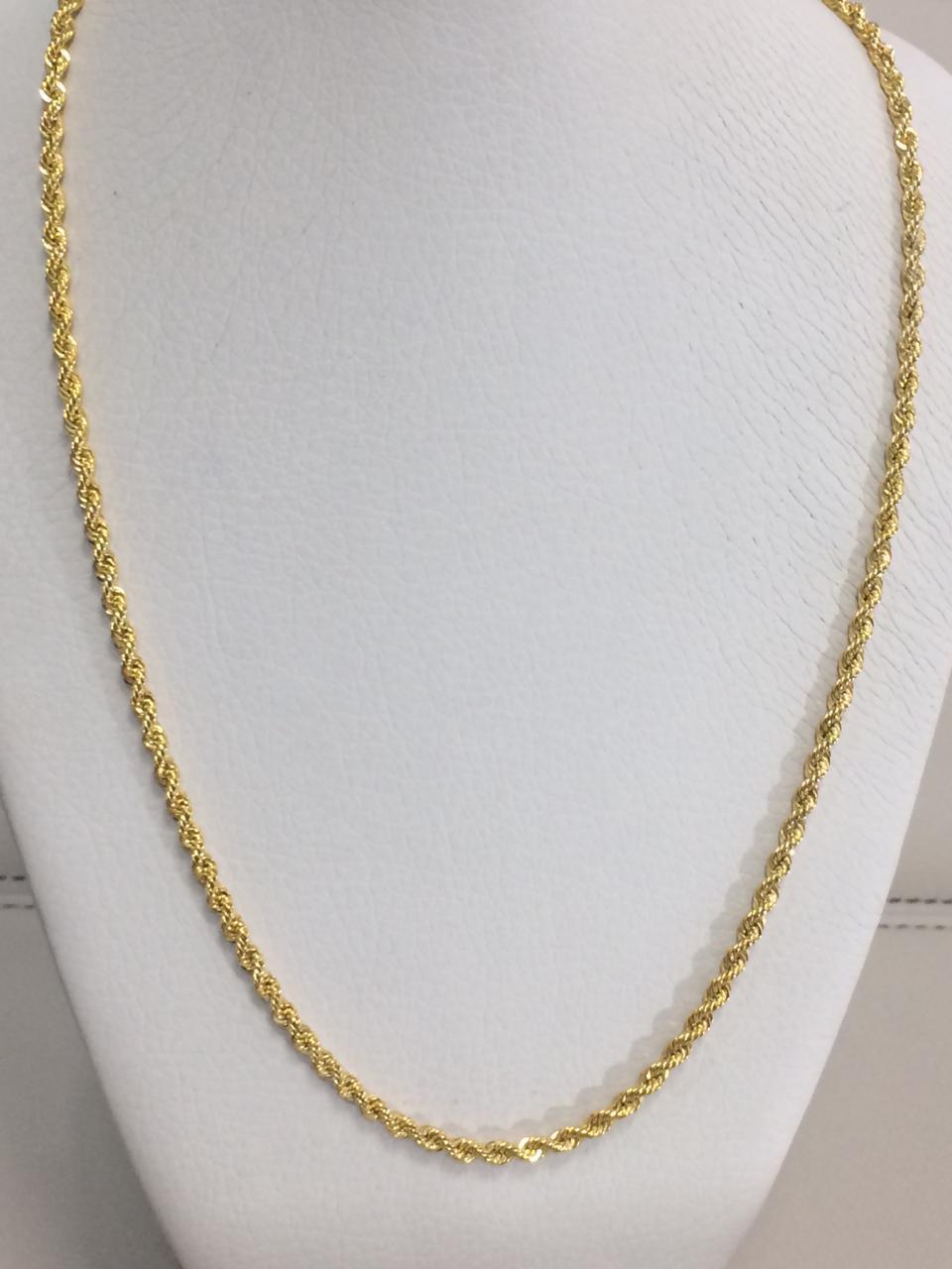 Золотая цепочка 50 см / жёлтое золото