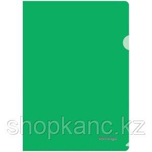 Папка-уголок Berlingo, А4, 180мкм, прозрачная зеленая