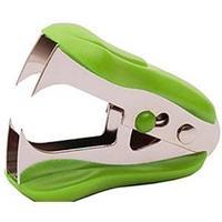 Антистеплер 24/6, цвет - светло-зеленый с фиксатором