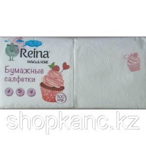 Бумажные салфетки Reina 1сл.Приятного аппетита 300 шт/упак