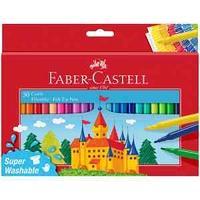 """Фломастеры Faber-Castell """"Замок"""", 50цв., смываемые, картон, европодвес"""