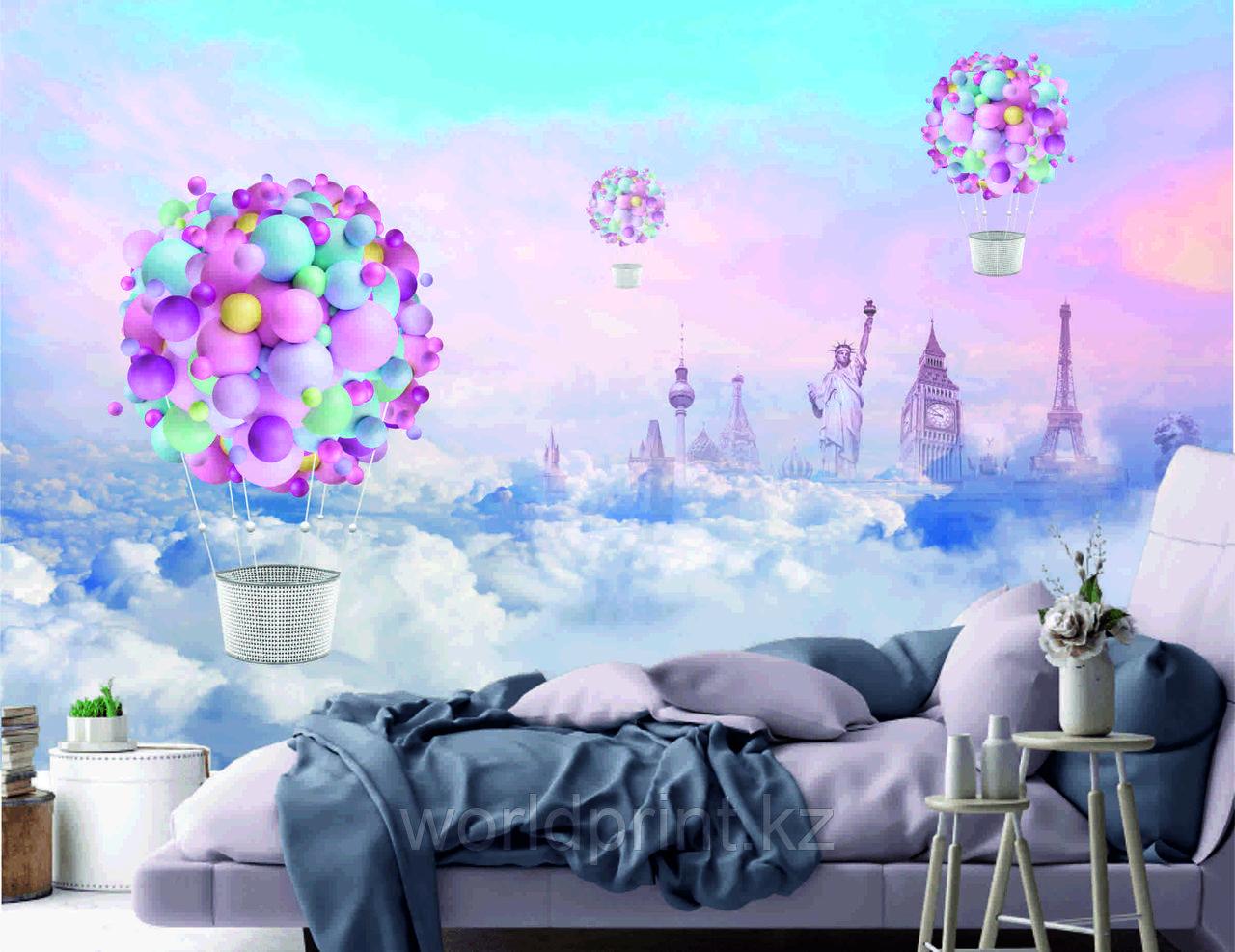 Фотообои цветной воздушный шар